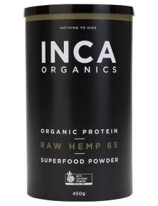 INCA Organics 450g Protein Raw Hemp (65% Protein) Superfood Powder