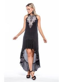 Czarina Alice Round-Neck Hi Low Dress