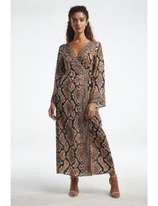 Czarina Wild Desert Wrap Dress