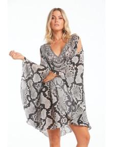 Czarina Desert Snake Kaftan Dress