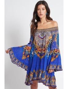 Czarina Royal Savannah Frill Dress