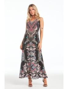Czarina Anastasia Sleeveless Dress With Racer Back