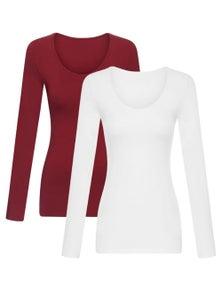 Bella Bodies Australia Modal Long Sleeve Cami 2 Pack