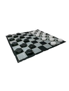 Jenjo Games Giant Outdoor Draughts Checkers Game Set