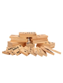 Jenjo Games Outdoor Dominoes Game Set w/ 28 Pieces