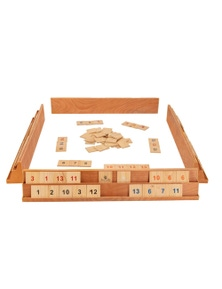 Jenjo Games Wooden Giant Rummy Game w/Carry Bag