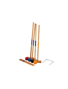 Jenjo Games Mini Croquet Kid's Outdoor Set 4 Player Set