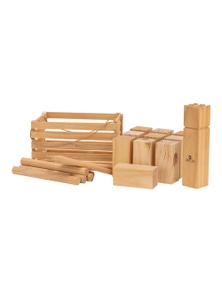Jenjo Games Outdoor Wooden Kubb Lawn Game Set