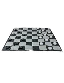 Jenjo Games Mega Outdoor Checkers Game Set Plastic