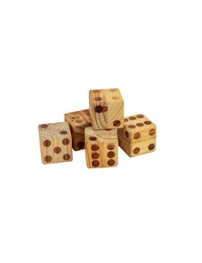 Jenjo Games Wooden Dice Set With Scorecard Book