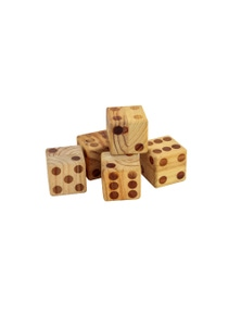 Jenjo Games Wooden Dice Set With Scorecard Book