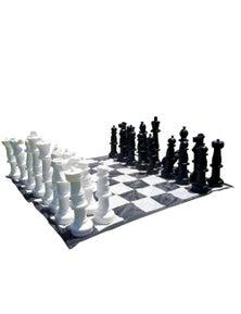 Jenjo Games Outdoor Chess Game Plastic Set