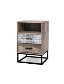 Artiss Bedside Tables - Wood Nightstand Storage Cabinet Unit