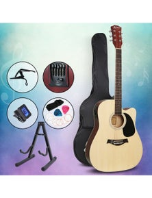 Alpha Guitar Acoustic Electric Guitar Pack 41 Inch Wood