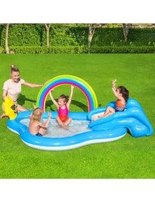 Bestway Swimming Pool Rainbow Slide Play Above Ground Kids Inflatable Pools