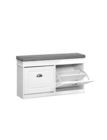 Shoe Cabinet Bench Shoes Storage Rack Organiser Drawer White Shelf 12 Pairs Box