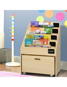 Artiss Kids Bookcase Childrens Bookshelf Organiser Storage Shelf Wooden Beige