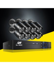 UL-tech CCTV 5MP Security Camera System 8CH 5 in 1 DVR Home Outdoor Day Night