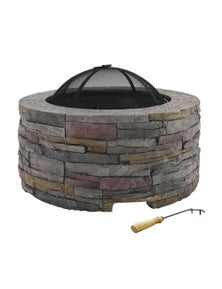 Grillz Fire Pit Outdoor Table Charcoal Fireplace