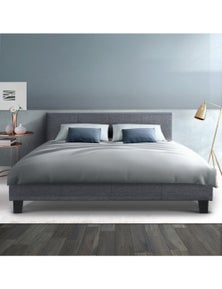 Upholstered Double Queen King Single Neo Bed Frame With Headboard