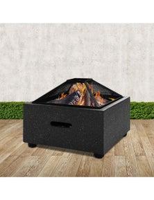 Grillz Outdoor Fire Pit Patio Charcoal Firepit Heater Backyard Garden Fireplace