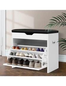 Artiss Shoe Cabinet Bench- 15 Pairs