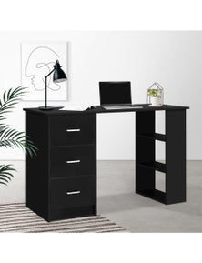 Artiss Office Computer Desk Student Study Table Workstation 3 Drawers 120cm Black