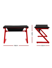 Artiss Gaming Desk / Home Office Computer Desk - Carbon Fiber Style Racer Table
