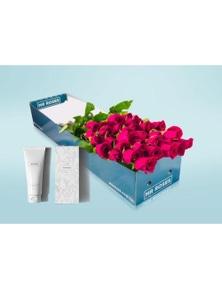 Mr Roses 12 Long Pink Roses & Hand Cream