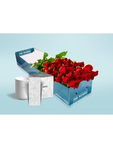 Mr Roses 36 Long Red Roses, Hand Cream & Candle