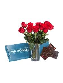 Mr Roses 12 Red Roses & Adora Milk Chocolate