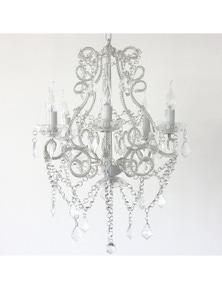 Ivory & Deene Venice Chandelier 5 Light