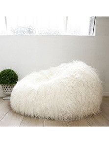 Ivory & Deene Fur Bean Bag