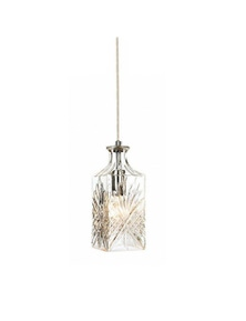 Ivory & Deene Whisky Decanter Glass Pendant Light