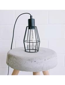 Ivory & Deene Industrial Cage Light - Black