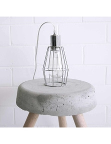 Ivory & Deene Industrial Cage Light - Chrome