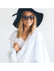 Ivory & Deene Organic Cotton Round Beach Towel