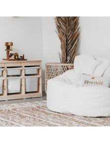 Ivory & Deene Plush Fur Lounger Bean Bag Chair - Cream