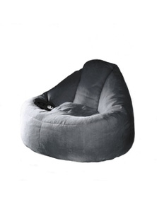Ivory & Deene Plush Lounger Bean Bag Chair - Charcoal