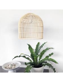 Ivory & Deene Siena Cane Rattan Pendant Light