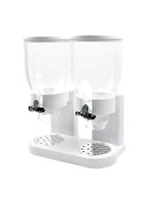 TOQUE White Colour Double Cereal Dispenser