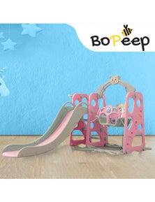 BoPeep Kids Slide Swing w/ Basketball Hoop