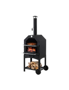 Portable Charcoal Steel Pizza Oven BBQ Grill