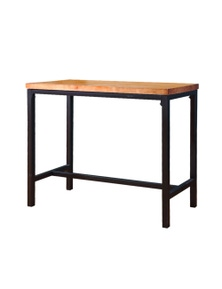 Levede Vintage Style Industrial Wooden Bar Table with Steel Legs