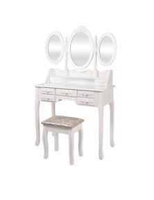 Levede Dressing Table and Stool Set