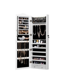 Levede Dual Use Mirror Jewellery Cabinet with LED Light