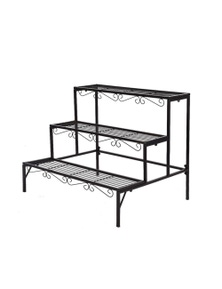 Levede 3 Tier Rectangle Shape Metal Plant Stand Planter Shelf