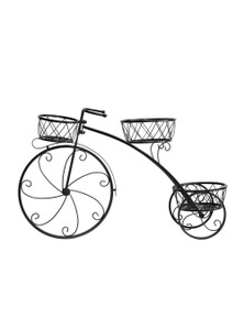 Levede Bicycle Shape Metal Plant Stand with 3 Plant Pots Space