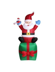 Inflatable Santa and Gift Bag