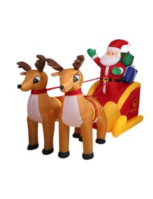 Inflatable Santa and Deer